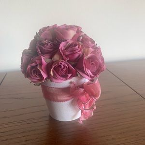Decorative flower centerpiece. Home decor piece